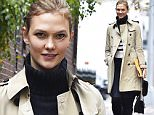 NEW YORK, NY - NOVEMBER 11:  (EXCLUSIVE COVERAGE) Karlie Kloss is seen in the West Village on November 11, 2015 in New York City.  (Photo by Alo Ceballos/GC Images)