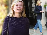LOS ANGELES, CA - NOVEMBER 11: Kirsten Dunst is seen in Beverly Hills on November 11, 2015 in Los Angeles, California.  (Photo by Bauer-Griffin/GC Images)