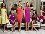 THE REAL HOUSEWIVES OF POTOMAC -- Season:1 -- Pictured: (l-r) Charrisse Jackson Jordan, Robyn Dixon, Karen Huger, Gizelle Bryant, Katie Rost, Ashley Boalch Darby -- (Photo by: Tommy Garcia/Bravo/NBCU Photo Bank via Getty Images)