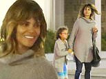 10.NOVEMBER.2015 - HOLLYWOOD - USA\n*** EXCLUSIVE ALL ROUND PICTURES ***\n*STRICTLY AVAILABLE FOR UK AND GERMANY USE ONLY*\nActress, Halle Berry, is the world's coolest mom taking her daughter Nahla and her friends for gourmet pizza at Angelino Pizzeria.  The 'Oscar' winning mom held hands with her excited daughter as they exited the eatery and said their goodbye's.  Before crossing the street, Halle Berry, had enough time to have a quick flirty exchange with a mystery guy in a suit who was waiting for his Uber ride.\nBYLINE MUST READ : XPOSUREPHOTOS.COM\n***UK CLIENTS - PICTURES CONTAINING CHILDREN PLEASE PIXELATE FACE PRIOR TO PUBLICATION ***\n*UK CLIENTS MUST CALL PRIOR TO TV OR ONLINE USAGE PLEASE TELEPHONE 0208 344 2007*