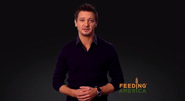 Partners: Her Avengers co-star Jeremy Renner makes a similar appeal in his own video