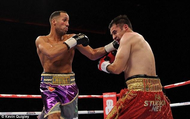 James DeGale (left) won his last fight against Mexico's Marco Antonio Periban last November