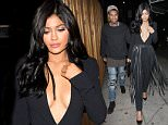 Kylie Jenner And Tyga Go To The Nice Guy Club To Party in West Hollywood  Pictured: Kylie Jenner And Tyga Ref: SPL1175379  121115   Picture by: Photographer Group / Splash News  Splash News and Pictures Los Angeles: 310-821-2666 New York: 212-619-2666 London: 870-934-2666 photodesk@splashnews.com