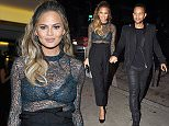 A pregnant Chrissy Teigen arrives with her husband John Legend to Craig's after attending an event at the London hotel with close friend Khloe Kardashian!  Pictured: Chrissy Teigen, John Legend Ref: SPL1174305  111115   Picture by: Splash News  Splash News and Pictures Los Angeles: 310-821-2666 New York: 212-619-2666 London: 870-934-2666 photodesk@splashnews.com