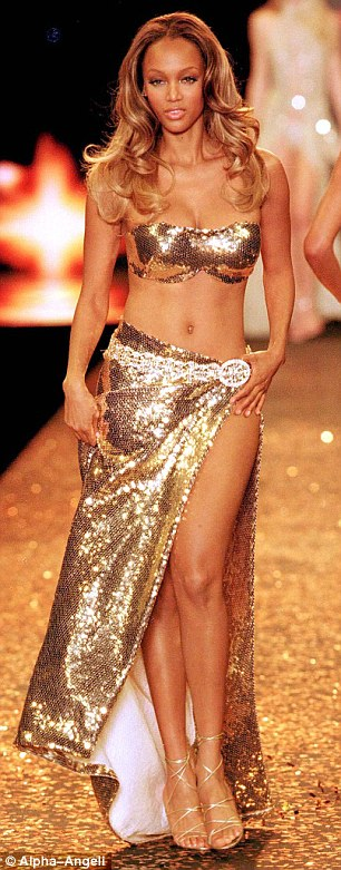 All curves: Tyra, who is pictured  in 2000, has often spoken of how difficult it was for her to get modeling jobs as a 'healthy' size six