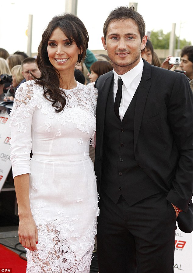 Long-term love: Christine is busy preparing for her upcoming wedding day with her partner of over five years Frank Lampard