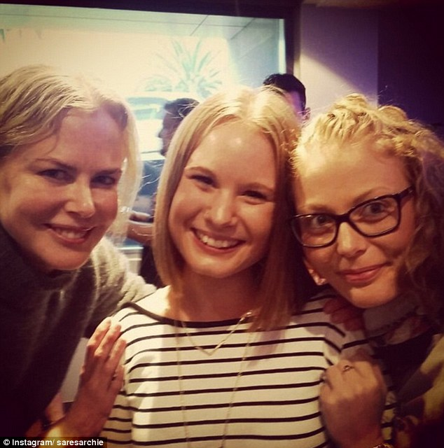 What a treat! Fans posed with the Oscar-winning actress, who is Down Under shooting new movie Lion in Melbourne