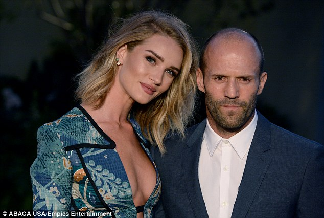 Loved-up: Rosie splits her time between LA and London, between her busy career and long-term romance with boyfriend Jason Statham
