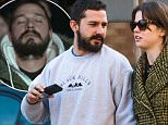 """EXCLUSIVE: Shia LaBoeuf and Mia Goth hold hands and listen to music together on a park bench as they go for a walk in Tribeca, New York City, the day after LaBoeuf finished his """"All My Movies"""" project.\n\nPictured: Shia LaBoeuf, Mia Goth\nRef: SPL1169239  131115   EXCLUSIVE\nPicture by: Splash News\n\nSplash News and Pictures\nLos Angeles: 310-821-2666\nNew York: 212-619-2666\nLondon: 870-934-2666\nphotodesk@splashnews.com\n"""