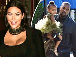 Please contact X17 before any use of these exclusive photos - x17@x17agency.com   PREMIUM EXCLUSIVE - Pregnant reality star Kim Kardashian wore black for dinner at Armenian diner Carousel, one of her father's favorite restaurants.  Thursday, November 12, 2015 X17online.com