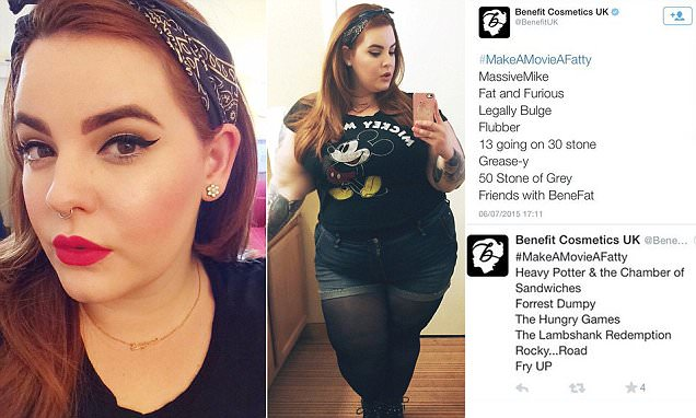 Benefit upsets customers by joining fat-shaming twitter hashtag #MakeAMovieAFatty
