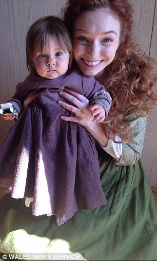Little Matilda Fitt - who played baby Julia Poldark in the BBC drama - was born nine weeks early in their home town of Barry, South Wales, weighing just 2lb 12oz