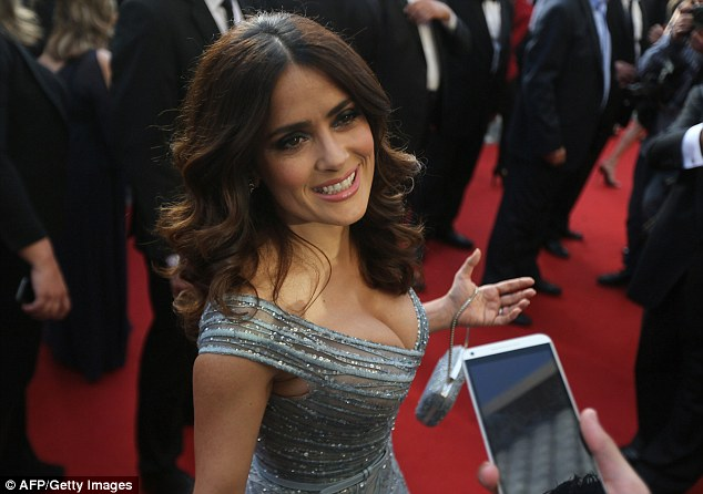 Chat happy: Salma couldn't resist chatting away about her labour of love, The Prophet