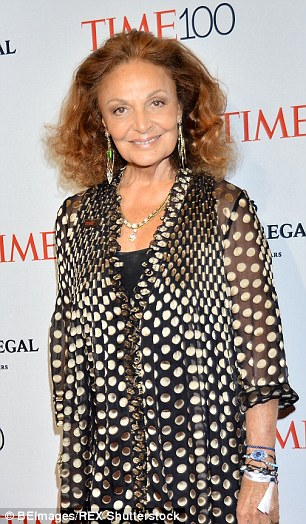 Fashion designer Diane Von Furstenberg, 68, has been open about her age, saying 'I feel that I have lived so fully that I should be twice my age.'