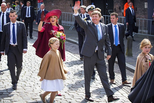 Enjoying the sunshine: Both royals and revellers made the most of the beautiful sunshine