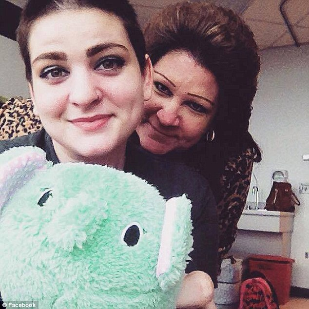 Released: Cassandra Fortin, 17, (seen with her mother Jackie) was released from hospital on Monday after she was made to undergo chemotherapy for Hodgkin's lymphoma, which she was diagnosed with in September.