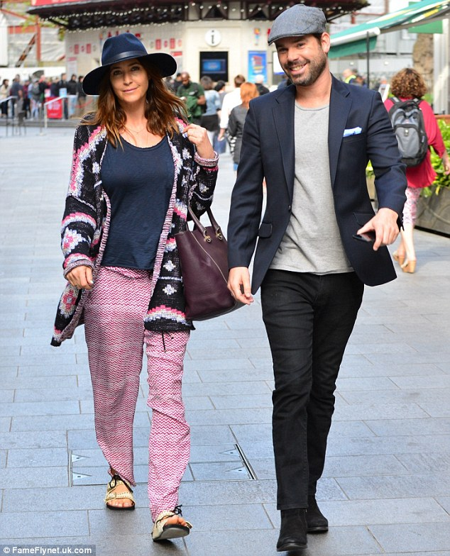 In the Capital: Lisa Snowdon and her Capital FM co-host Dave Berry were seen walking in London on Monday