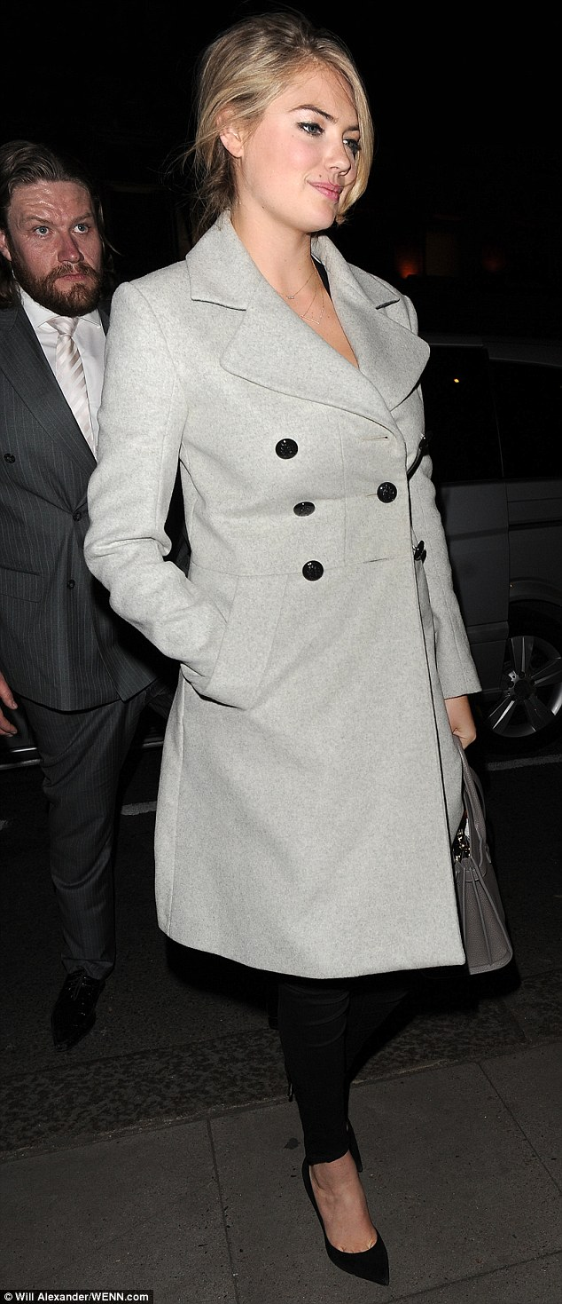 Looking good: The actress gave her look a dramatic flourish with heavy eyeliner as she took her look from day to night
