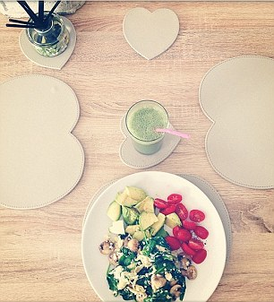 Bianca's breakfasts at the weekend would include scrambled eggs with spinach, tomato and avocado