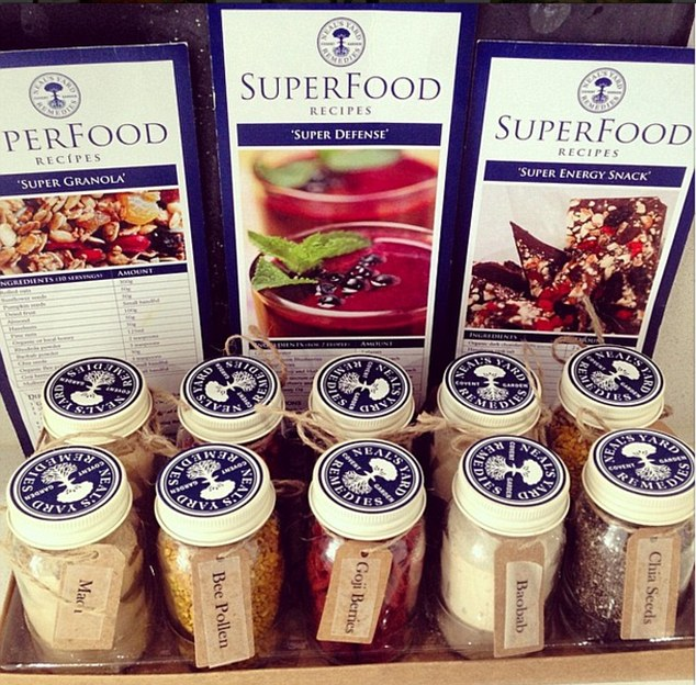 Martha and Bianca picked up some superfoods from Neal's Yard Remedies