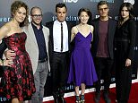 """AUSTIN, TX - OCTOBER 03:  (L-R) Amy Brenneman, Damon Lindelof, Justin Theroux, Carrie Coon, Chris Zylka and Margaret Qualley attend the Season 2 premeire of HBO's """"The Leftovers"""" during the ATX Television festival at the Paramount Theatre on October 3, 2015 in Austin, Texas.  (Photo by Gary Miller/FilmMagic)"""