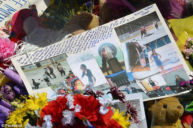 Remembering Jessica: Friedns leave pictures, flowers and teddy bears in tribute to the 24-year-old