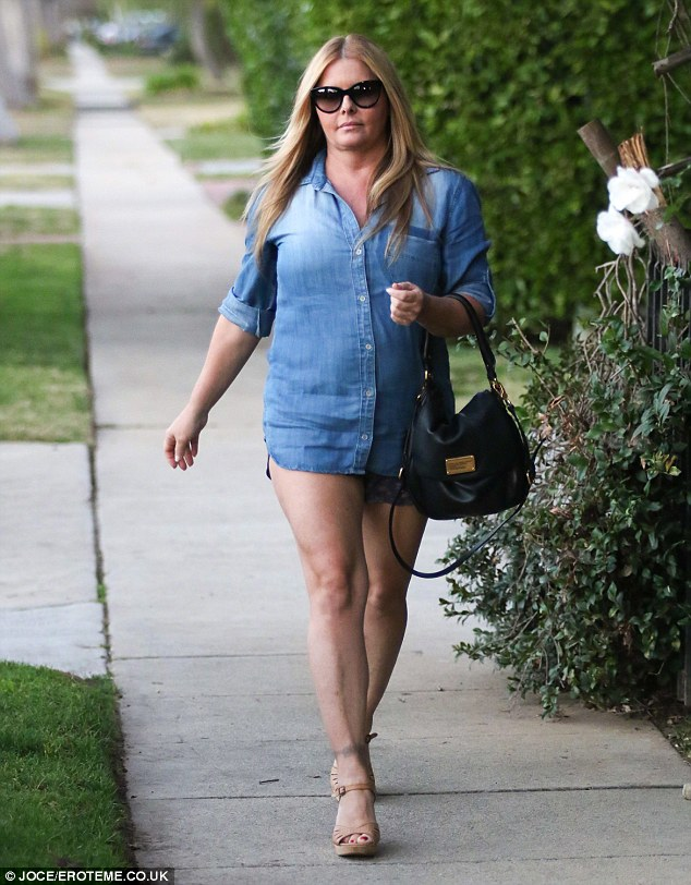 Struggles: Nicole, pictured on January 17, has dealt with debt and weight gain since Baywatch went off the air in 2001