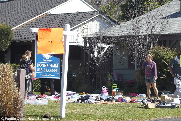 All must go: Nicole had a yard sale at her home on March 7 after placing the property for sale