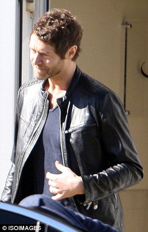 Check him out: Howard was dressed in an edgy leather jacket as he made his way to his car