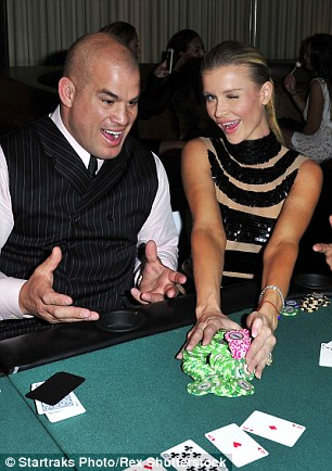 Chips: The animal lover hosted a Charity Poker event in Los Angeles in aid of Angels for Animal Rescue