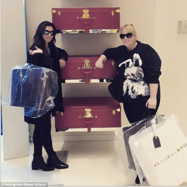 Spending up big! Australian actress Rebel Wilson stopped by high-end Louis Vuitton store in Paris