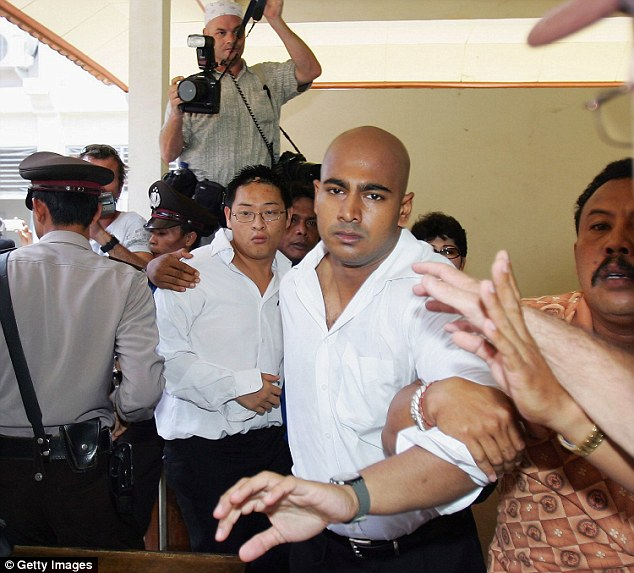 Myuran Sukumaran (foreground) and Andrew Chan (back) were executed by a firing squad earlier this year, which damaged Australia-Indonesian relations