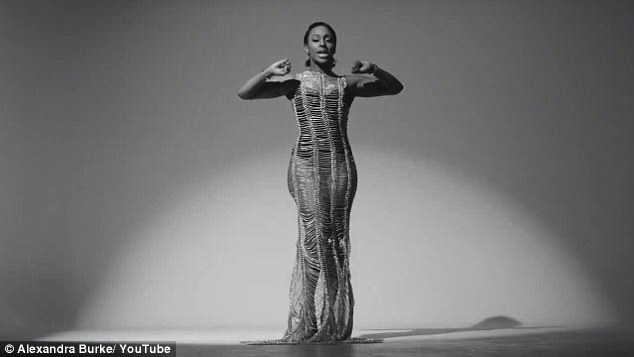 Wow thing: In her new music video, Alexandra pulls out all the stops in an intricate gown