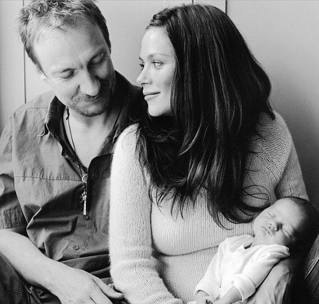 Anna Friel shared this picture on Instagram of her and former partner David Thewlis, 52, with their daughter Gracie - then newborn