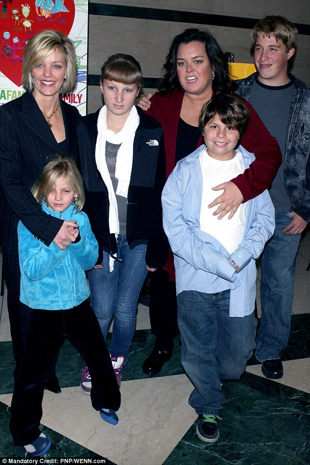 Flashback: The Fosters star and former wife Kelli Carpenter pictured with their four  children - Vivienne, Chelsea, Blake, and Parker in New York City in 2010