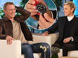 \nStar of the new James Bond Film ¿Spectre¿ actor Daniel Craig stops by ¿The Ellen DeGeneres Show¿ on Tuesday, November 17th.   Daniel surprises Ellen by gifting her with the actual Omega watch he wore in the film.  Plus, Daniel agrees to read a message to the Queen of England asking her to ¿Get Elly On The Telly¿. \n