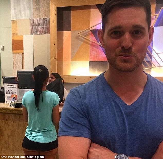 Overexposed: Fans were not happy when Michael Bublé shared this Instagram photo from his Miami vacation, commenting on the behind of the woman in the backgroundRead more: