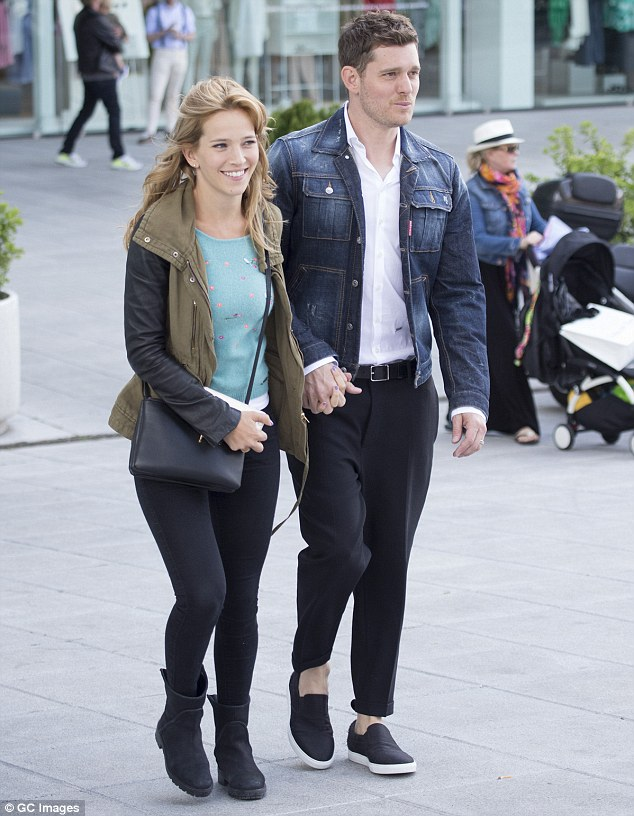 Happy couple: The pair have a 19 month old son together and are happier than ever