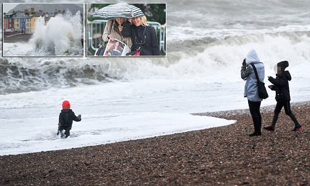 UK weather sees Storm Barney hit and the public warned not to pose for 'storm selfies'