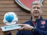 Pr Shoot - Barclays PR Shoot 06/11/2015 - Arsenal Training Ground - 6/11/15\nArsenal manager Arsene Wenger poses with the Barclays manager of the month award\nMandatory Credit: Action Images / Alan Walter\nLivepic\nEDITORIAL USE ONLY.
