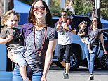 15.NOV.2015 - LOS ANGELES - USA ***AVAILABLE FOR UK AND GERMANY SALE ONLY *** **Exclusive all round pictures** Megan Fox and Brian Austin Green take their boys Noah and Bodhi to the Griffith Park merry go round in Los Angeles.  As the family returned to their car, Megan began to change a dirty diaper and hands the dirty duty off to stay at home dad Brian.¯ BYLINE MUST READ: XPOSUREPHOTOS.COM ***UK CLIENTS - PICTURES CONTAINING CHILDREN PLEASE PIXELATE FACE PRIOR TO PUBLICATION *** *UK CLIENTS MUST CALL PRIOR TO TV OR ONLINE USAGE PLEASE TELEPHONE 0208 344 2007*