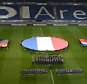 epa05029993 The flags of Germany (L-R), France and Holland are unfurled on the pitch during the rehersal before the soccer match between Germany and Netherlands at the HDI-Arena in Hanover, Germany, 17 November 2015. The match has been called off on short notice, as the police said.  EPA/PETER STEFFEN