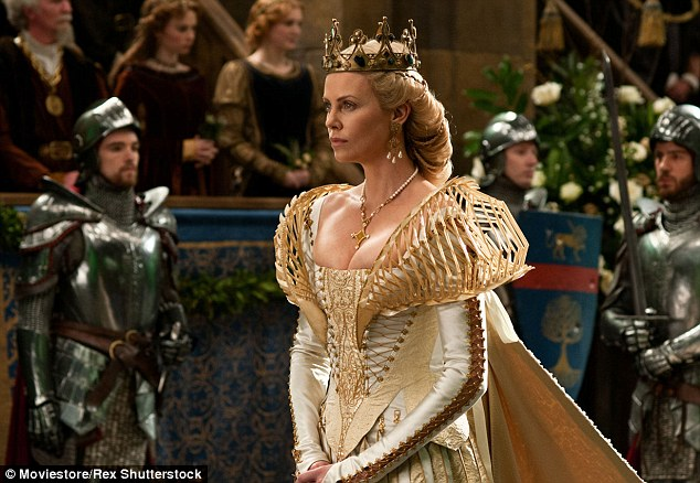 Filming Charlize recently went to London to reprise her role as the wicked Queen for The Huntsman