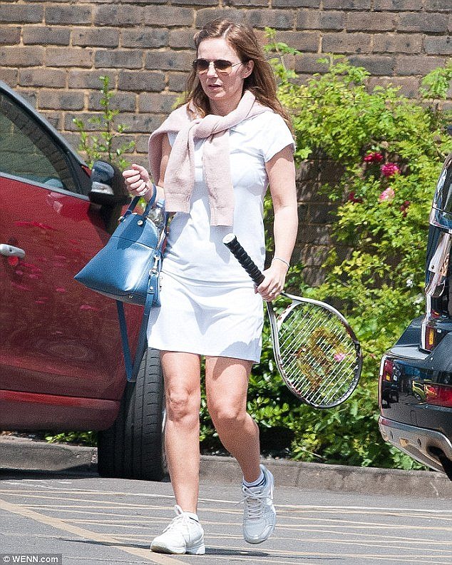 Move over, Sporty Spice: The singer is more than just a fan of tennis, and is regularly pictured donning her  gear for to hit a few balls at her local tennis club