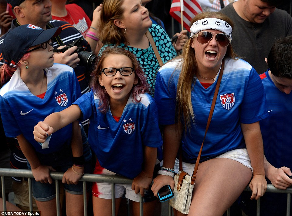 Fans both old and young were excited to watch the parade celebrating the World Cup championship