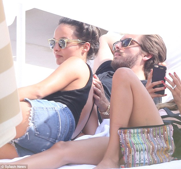 Caught on camera: Scott was seen looking very cosy with rumoured ex Chloe Bartoli in France last week