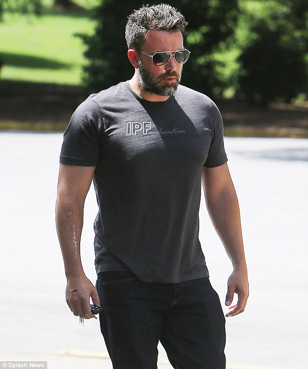 Somber: The 42-year-old actorreportedly has signed on for the next installment of the Batman franchise, in which he is expected to 'direct, co-write, and star' amid marital woes