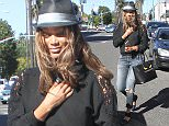 Tyra Banks grabs Go Greek yogurt in Beverly Hills, CA.  Pictured: Tyra Banks  Ref: SPL1177613  161115   Picture by: Be Like Water Production  Splash News and Pictures Los Angeles: 310-821-2666 New York: 212-619-2666 London: 870-934-2666 photodesk@splashnews.com