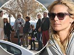 145023, EXCLUSIVE: Heidi Klum takes her children, boyfriend Vito Schnabel and parents at Nobu for a Sunday lunch in LA. They later walked towards the beach where they watched the kids playing in the water. Los Angeles, California - Sunday November 15, 2015. Photograph: © PacificCoastNews. Los Angeles Office: +1 310.822.0419 sales@pacificcoastnews.com FEE MUST BE AGREED PRIOR TO USAGE