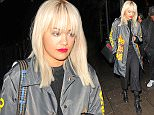 16.NOVEMBER.2015 - LONDON - UK BRITISH SINGER RITA ORA WITH BLONDE HAIR AND RED LIPS SEEN LEAVING HAKKASAN RESTAURANT IN LONDON WITH A MALE FRIEND BYLINE MUST READ : EBELE / XPOSUREPHOTOS.COM ***UK CLIENTS - PICTURES CONTAINING CHILDREN PLEASE PIXELATE FACE PRIOR TO PUBLICATION *** **UK CLIENTS MUST CALL PRIOR TO TV OR ONLINE USAGE PLEASE TELEPHONE 44 208 344 2007**